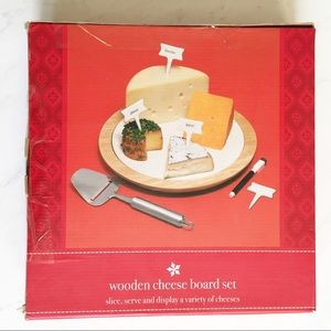 NEW Target 7 Piece Wooden Cheese Board Box Set